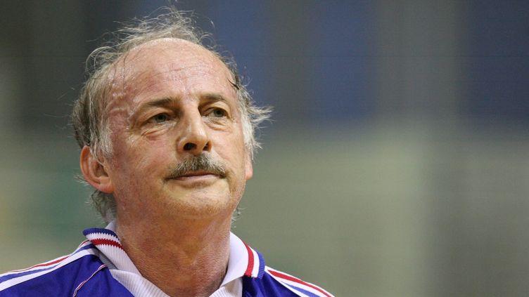 Jacques Secrétin lors d'un match de gala à Mulhouse, en 2007. (MAXPPP TEAMSHOOT)