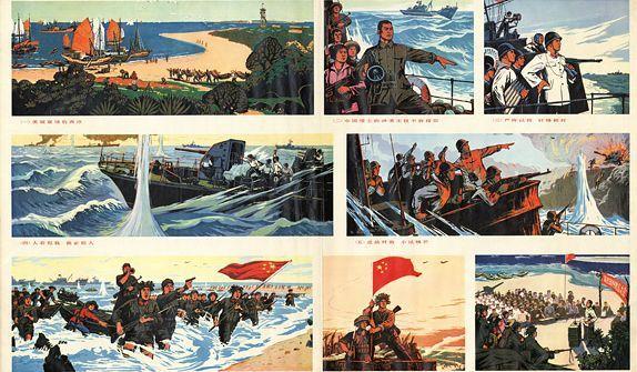 Image de propagande chinoise sur les îles Paracel (Xisha) (Renmin meishu chubanshe)