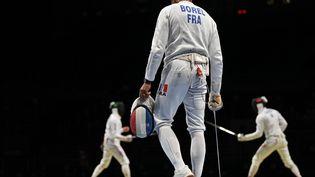 Yannick Borel et l'équipe masculine d'épée ont été éliminés dès les quarts de finale aux Jeux olympiques de Tokyo le 30 juillet 2021. (FABRICE COFFRINI / AFP)