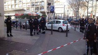 Un homme a été blessé par un policier, à Marseille, le 10 mars 2015. ( FRANCE 3 PROVENCE-ALPES)