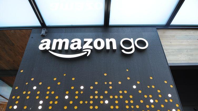 Enseigne d'une boutique Amazon à Seattle (Washington). (ANDREJ SOKOLOW / DPA)