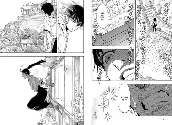 Pages du manga Eclat(s) d'âme (SHIMANAMI TASOGARE / YUHKI KAMATANI / SHOGAKUKAN / AKATA)