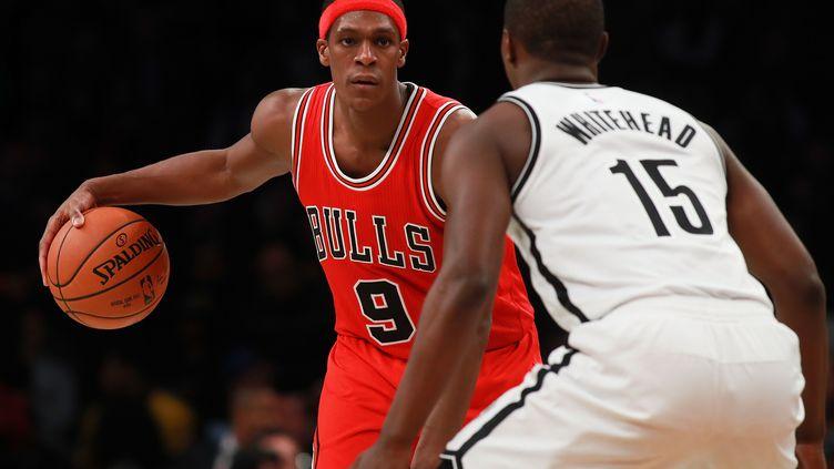 Rajon Rondo, impeccable lors de la victoire des Bulls face aux Nets (MICHAEL REAVES / GETTY IMAGES NORTH AMERICA)
