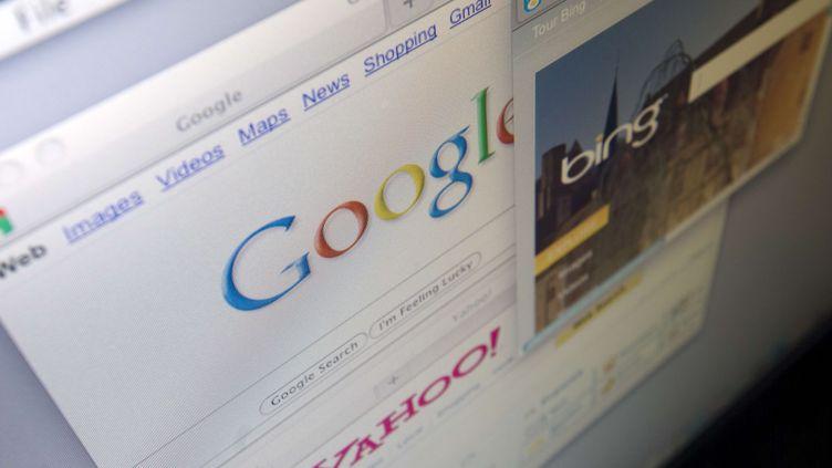 Les moteurs de recherche Google et Yahoo! sur un écran d'ordinateur, le 30 juillet 2009. (RICHARD B. LEVINE / NEWSCOM / SIPA)