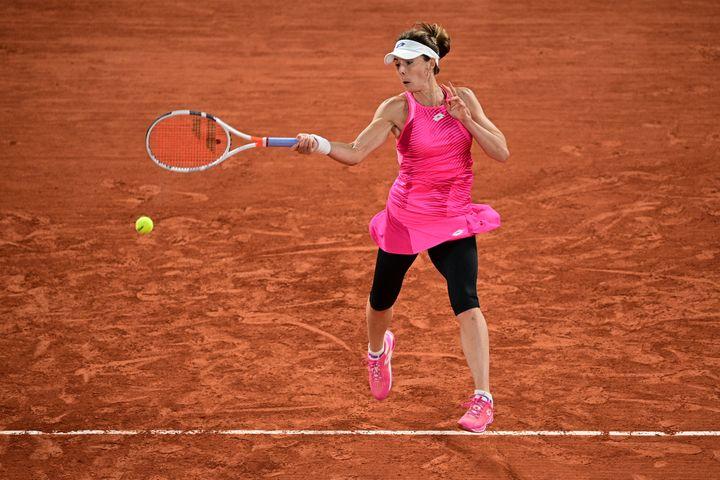 Alizé Cornet lors du premier tour de Roland-Garros 2020. (MARTIN BUREAU / AFP)