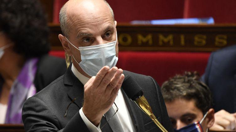 Jean-Michel Blanquer, ministre de l'Éducation, à l'Assemblée nationale, le 13 octobre 2020. (BERTRAND GUAY / AFP)