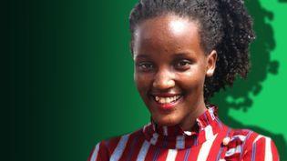 Vanessa Nakate, militante ougandaise pour le climat. (STÉPHANIE BERLU / FRANCE-INFO)