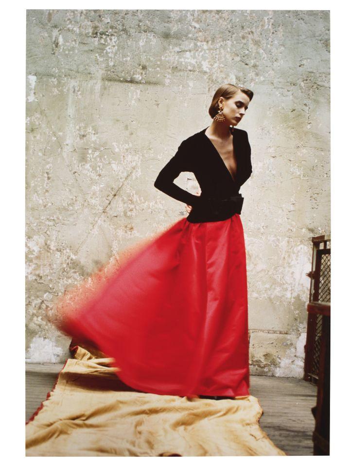 "David Seidner, ""Modèle d'Yves Saint Laurent. Vogue Italia"", septembre 1985, Cibachrome (DAVID SEIDNER ARCHIVES INTERNATIONAL CENTER OF PHOTOGRAPHY / MAD PARIS / CHRISTOPHE DELLIERE)"