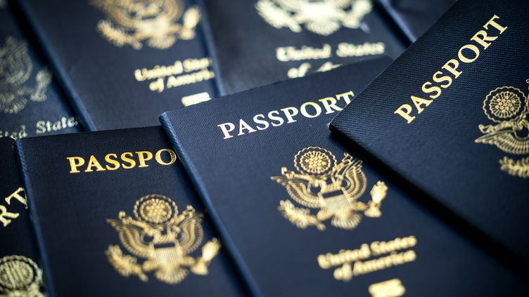 Des passeports aux Etats-Unis le 4 septembre 2020. (MAXPPP)