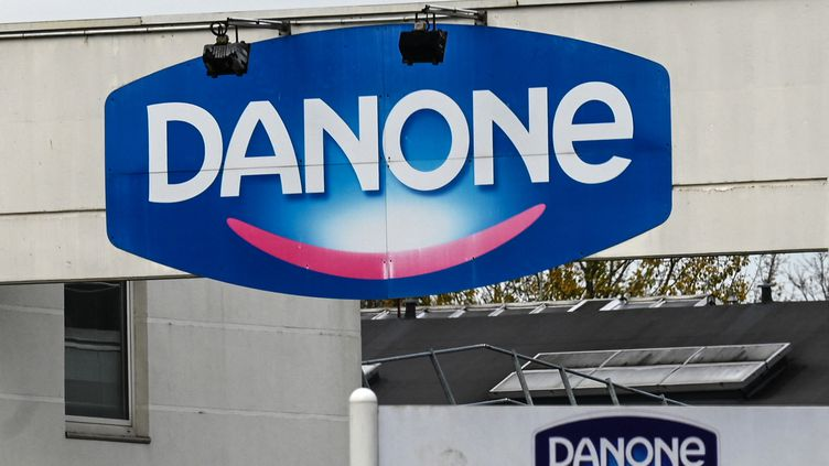 L'entrée de l'usine de Danone à Bailleul (Nord) le 23 novembre 2020. (DENIS CHARLET / AFP)