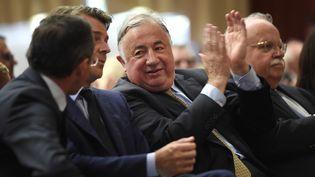 Le président du Sénat Gérard Larcher assiste à un meeting avant les élections législatives à Vertou (Loire-Atlantique), le 29 mai 2017. (JEAN-SEBASTIEN EVRARD / AFP)