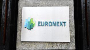 Facade de la banque Euronext à Amsterdam (Pays-Bas). Photo d'illustration. (JOHN THYS / AFP)