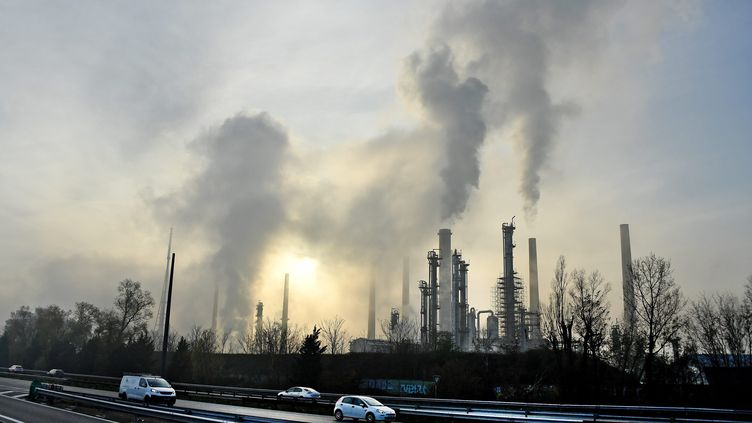La raffinerie de Feyzin (Rhône), le 5 décembre 2019. (MAXPPP)