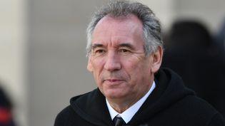 François Bayrou, le 24 février 2017 à Orléans (Loiret). (JEAN-FRANCOIS MONIER / AFP)