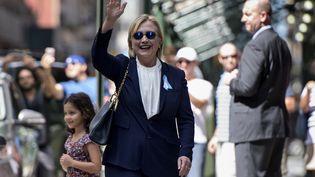La candidate démocrate à la présidentielle américaine Hillary Clinton, à New York, dimanche 11 septembre 2016. (BRENDAN SMIALOWSKI / AFP)