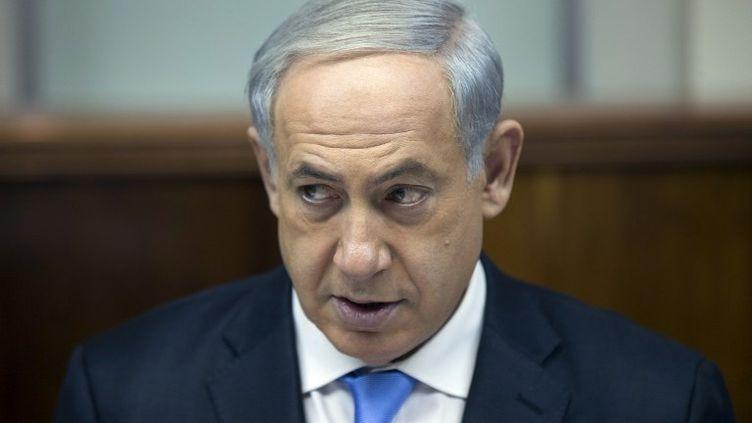 Le Premier ministre israélien, Benyamin Netanyahu, à Jérusalem, le 8 décembre 2013. (URIEL SINAI / AFP)