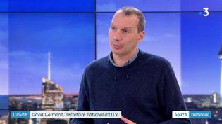 David Cormand, secrétaire national EELV (France 3)