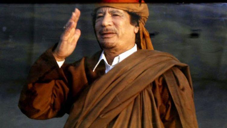 Mouammar Kadhafi, le 13 février 2011 à Tripoli (AFP / Mahmud Turkia)