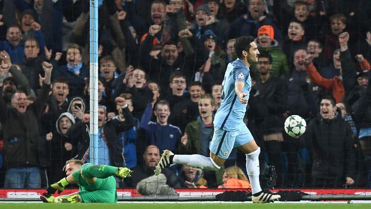La joie de Gundogan, buteur pour Manchester City (PAUL ELLIS / AFP)