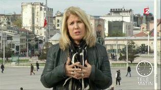 Stéphanie Perez, envoyée spéciale à Istanbul. (FRANCE 2)