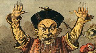 """Une caricature sur le """"péril jaune"""" publiée en 1898 dans """"Le Petit Journal"""". (GIANNI DAGLI ORTI / THE ART ARCHIVE / AFP)"""