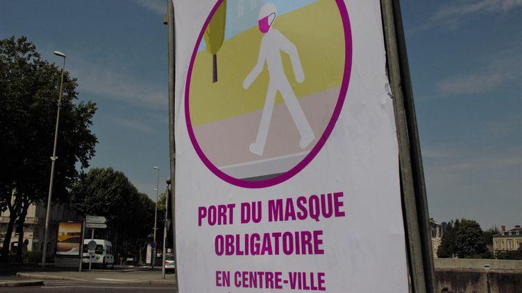 ÀLaval, le port du masque est déjà obligatoire dans les rues du centre-ville. (MORGANE HEUCLIN-REFFAIT / FRANCE-BLEU MAYENNE)