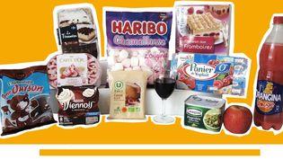 Les différents produits contenant des dérivés d'animaux, selon Foodwatch. (FOODWATCH / FRANCEINFO)
