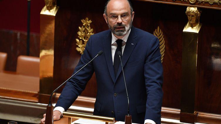Le premier ministre Edouard Philippe s'exprime à l'Assemblée le 28 avril. (DAVID NIVIERE / AFP)