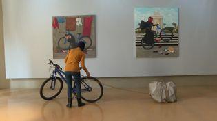 Duaa Quishta, Atelier des artistes en exil, novembre 2020 (FRANCE 3)
