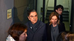 L'ancien PDG de Renault-Nissan, Carlos Ghosn, le 3 avril 2019 à Tokyo (Japon). (KAZUHIRO NOGI / AFP)