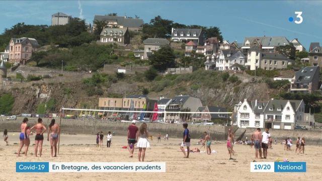 Coronavirus : des vacanciers prudents en Bretagne