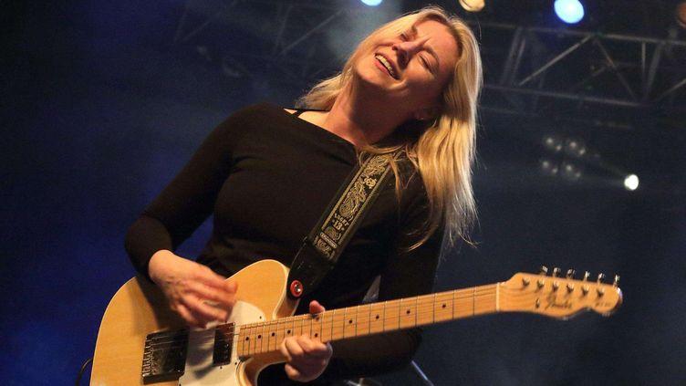 Joanne Shaw Taylor en concert à Londres en avril 2016  (Keith Mayhew/Landma/NEWSCOM/SIPA)