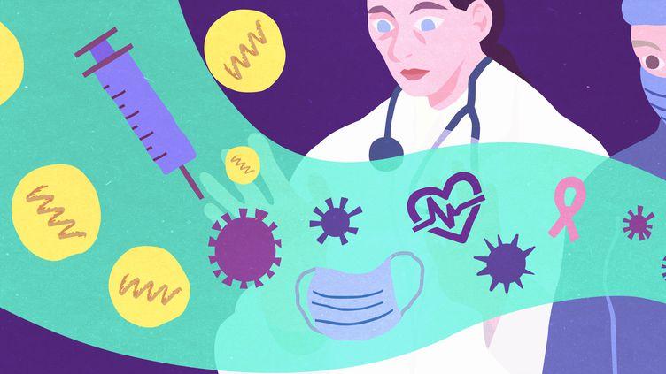 Le succès des vaccins à ARN messagers contre le Covid-19 a relancé l'intérêt pour cette technologie, qui pourrait être appliquée à de nombreux champs de la recherche médicale. (JESSICA KOMGUEN / FRANCEINFO)