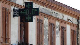 A Toulouse, quand le thermomètre a dépassé les 40 degrés Celsius, le 22 juin 2017. (MAXPPP)