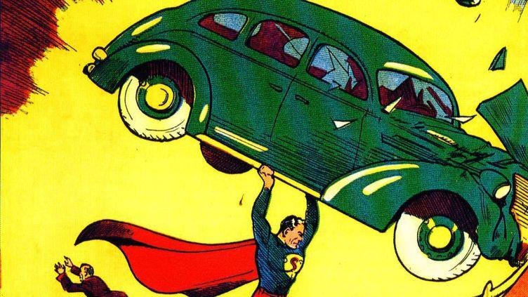 """Le numéro 1 d'""""Action Comics"""" où apparaissait en 1938 la première aventure de """"Superman"""" (détail)  (DR)"""