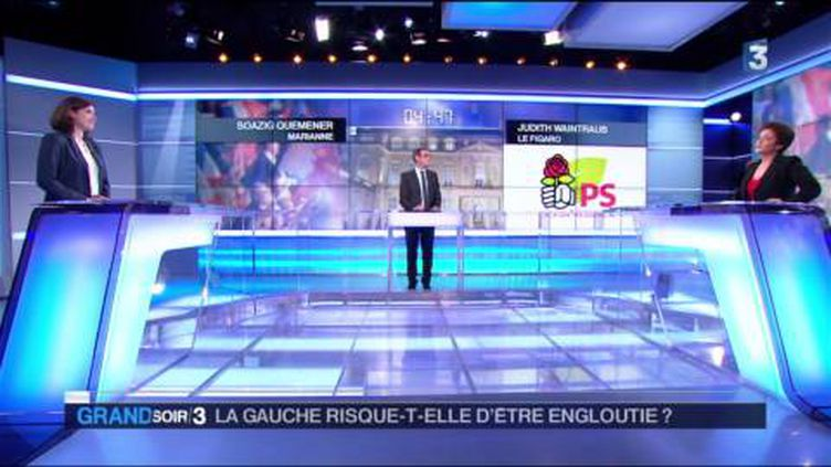 La gauche est menacée par Emmanuel Macron pour la présidentielle. (FRANCE 3)
