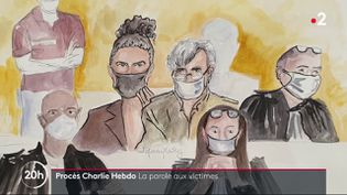 Le procès des attentats de janvier 2015 se poursuit. Mardi 8 septembre, les survivants des attaques de Charlie Hebdo sont venus à la barre. (France 2)