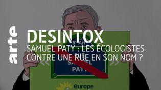 Désintox. Non, les écologistes ne sont pas contre une rue nommée Samuel Paty (ARTE/LIBÉRATION/2P2L)