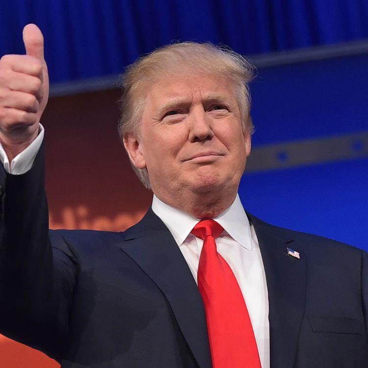 Donald Trump, lors du premier débat présidentiel républicain, à Cleveland (Ohio), le 6 août 2015. (MANDEL NGAN / AFP)