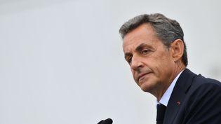 Nicolas Sarkozy à la tribune de l'université d'été du parti Les Républicains, à La Baule (Loire-Atlantique), le 4 septembre 2016. (FRANCOIS PAULETTO / CITIZENSIDE / AFP)