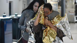 Près de 300 rescapés de l'ouragan Irma ont atterri lundi 11 septembre à l'aéroport Roissy-Charles de Gaulle. (PHILIPPE LOPEZ / AFP)