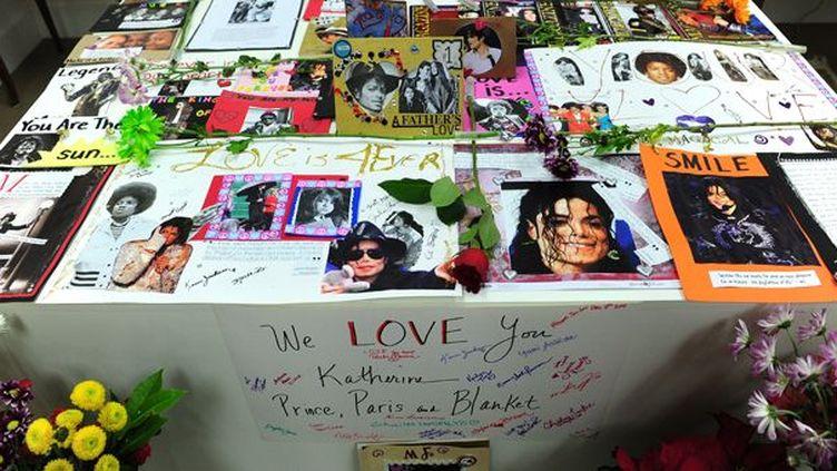 """Des fans de Michael Jackson veulent faire reconnaître leur """"prejudice affectif"""" après la mort de leur idole  (Frederic J. Brown / AFP)"""