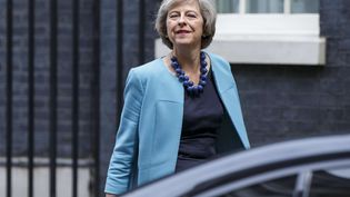 Theresa May, ministre de l'Intérieur britannique devant le 10 Downing Street à Londres, le 27 jjuin 2016 (TOLGA AKMEN / LNP / SHUTTER / SIPA)