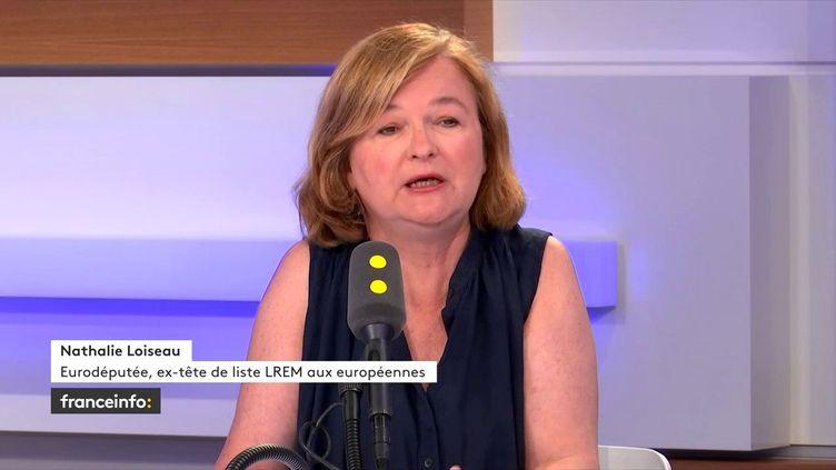 L'eurodéputée Nathalie Loiseau, invitée du 18h50 politique. (FRANCEINFO / RADIOFRANCE)