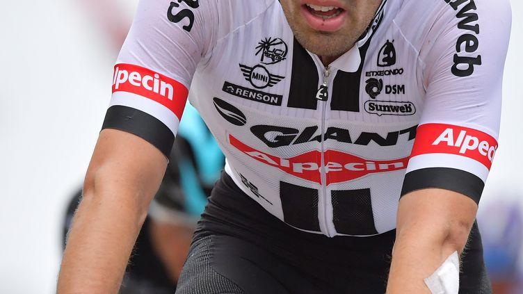 Le néerlandais Tom Dumoulin, le 3 juillet 2016 lors de la deuxième étape du Tour de France. (DAVID STOCKMAN / BELGA MAG / AFP)