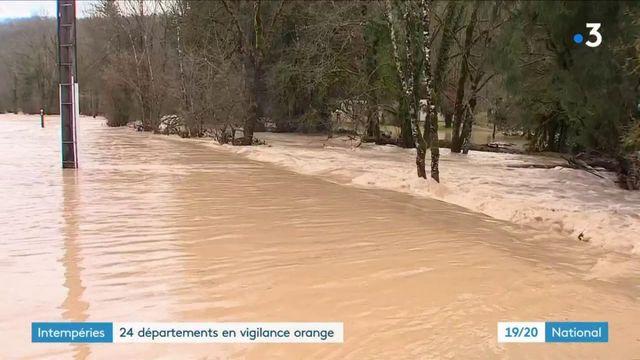 Météo : risques d'inondations et d'avalanches dans l'est de la France
