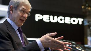 Philippe Varin, PDG du groupe PSA, à Genève (Suisse),le 7 mars 2012. (FABRICE COFFRINI / AFP)