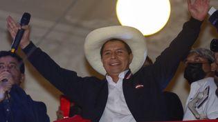 Pedro Castillo, président du Pérou à Lima, le 19 juillet 2021. (GIAN MASKO / AFP)