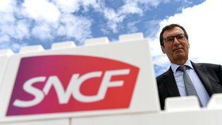 Le PDG de la SNCF, Jean-Pierre Farandou, le 25août 2020 à Orléans (Loiret). (JEAN-FRANCOIS MONIER / AFP)