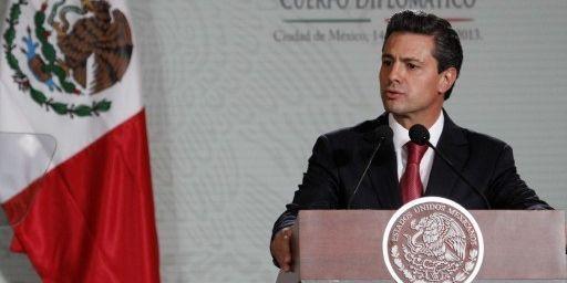 Enrique Peña Nieto le 14 février 2013 à Mexico. (JAVIER LIRA / NOTIMEX)